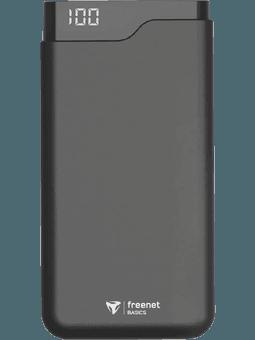 freenet Basics Premium Powerbank mit 12000 mAh (schwarz) Vorderseite