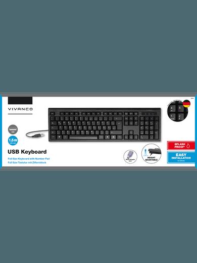 Vivanco USB-Tastatur schwarz