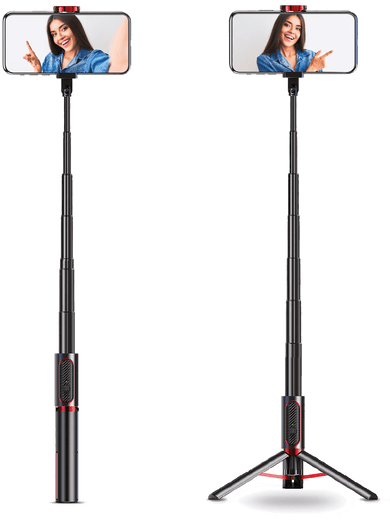 XQISIT Tripod 2in1 Selfie Stick und Stativ (schwarz)