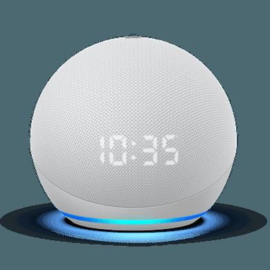 Amazon Echo Dot (4. Generation) mit Uhr weiß