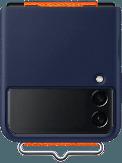 Samsung EF-GF711 Silicone Cover mit Strap Galaxy Z Flip 3 (navy)