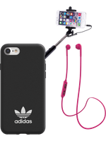SPARSET für iPhone 6/6s/7/8: Bluetooth-Headset + adidas Cover + Selfie Stick