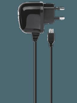 freenet Basics Ladegerät 2.1A Micro-USB schwarz Vorderseite