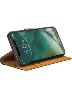 freenet Basics Premium Wallet iPhone 12 mini (schwarz) Vorderseite