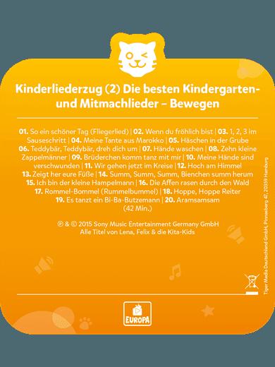 tigercard - Kinderliederzug 2: Kindergarten-/Mitmachlieder - Bewegen