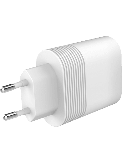 freenet Basics Travel Charger Dual 2 x USB-C Power Delivery 40W (weiß)