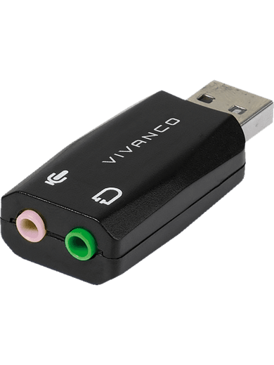Vivanco USB 2.0 Audioadapter schwarz