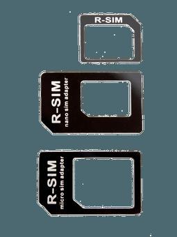 freenet Basics SIM-Karten Adapterset schwarz Vorderseite