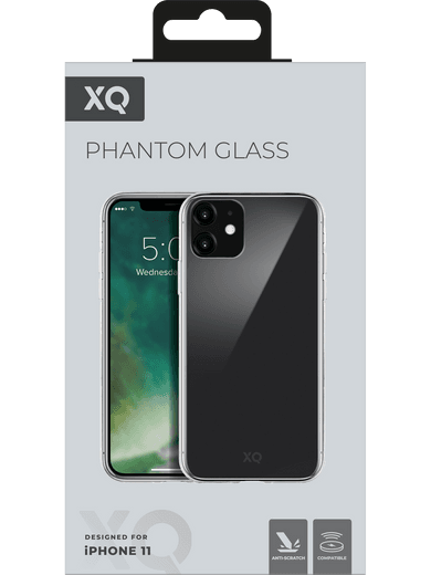 XQISIT Phantom Glass Case iPhone 11 (transparent)