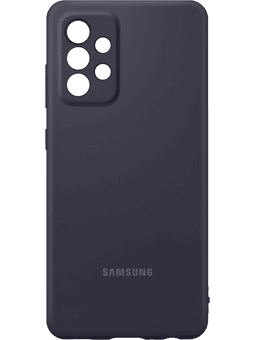 Samsung EF-PA525 Silicone Cover Galaxy A52 (schwarz) Vorderseite