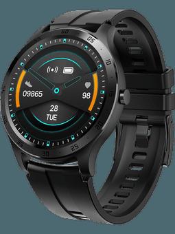 XQISIT Active Smartwatch Pro (schwarz) Vorderseite