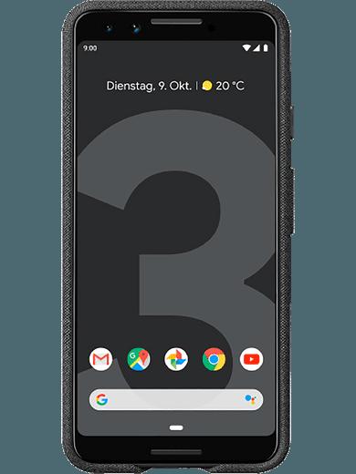 Google Stoff Case für Pixel 3 (carbon, grau)