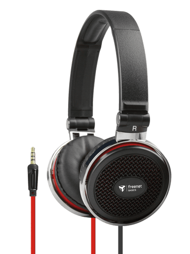 freenet Basics Kopfhörer Over-Ear 3,5mm schwarz