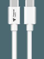 freenet Basics USB-C auf USB-C Kabel 1,5m weiß