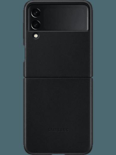 Samsung EF-VF711 Leather Cover Galaxy Z Flip 3 (schwarz)