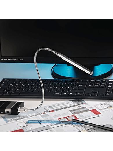 """Hama Notebook-Licht """"Schwanenhals"""" (10 dimmbare LEDs + Touch-Sensor)"""