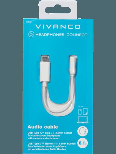 Vivanco USB-C auf 3.5mm Adapter weiß