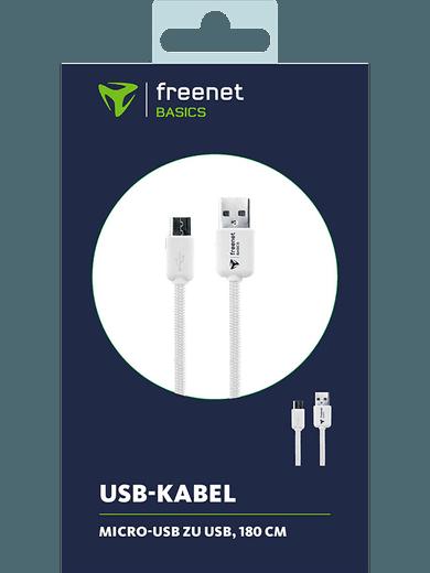 freenet Basics Lade- & Datenkabel Micro-USB 180cm Weiß
