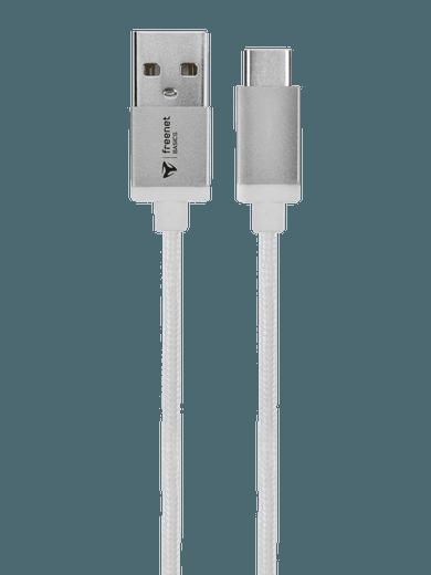 freenet Basics Lade- & Datenkabel USB Typ-C 180cm weiß
