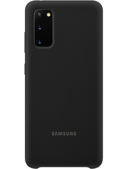Samsung EF-PG980 Silicone-Cover Samsung Galaxy S20 (schwarz) Vorderseite