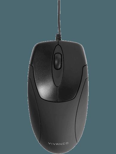 Vivanco USB-Maus (für Rechts- und Linkshänder), schwarz