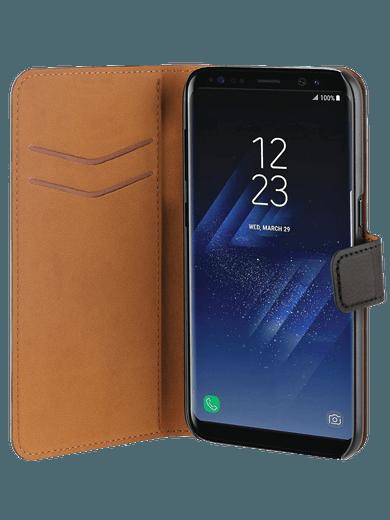 freenet Basics Premium Wallet für Galaxy S8 Plus Schwarz