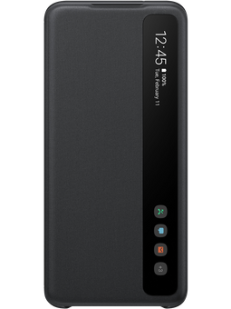 Samsung EF-ZG980 Clear-View Cover Samsung Galaxy S20 (schwarz) Vorderseite