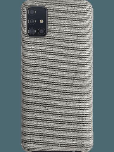 XQISIT Stoff-Case Samsung Galaxy A51 grau