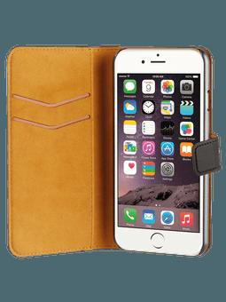 freenet Basics Premium Wallet für iPhone 6/6s/7/8 (schwarz) Vorderseite